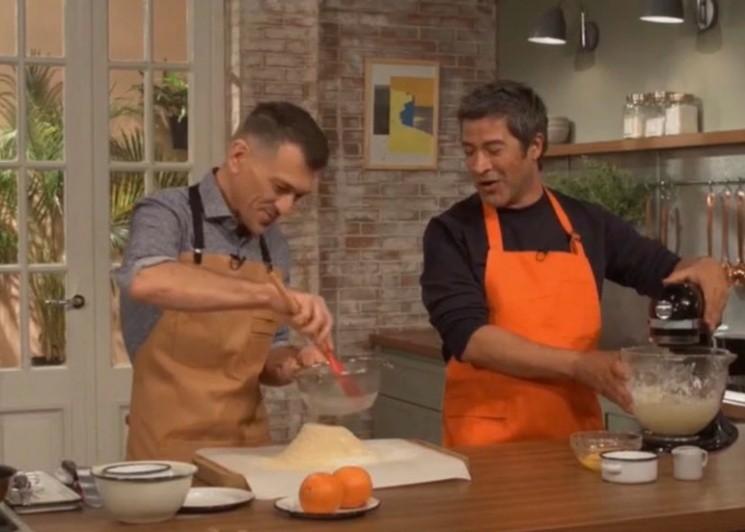 Eduardo Rodríguez con Mauricio Asta en una participación en 'Gourmet'