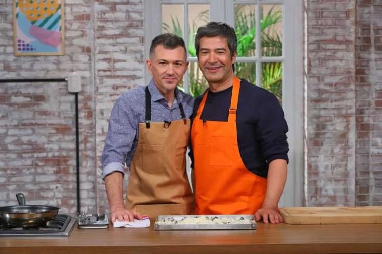 Eduardo y Mauricio juntos en El Gourmet.